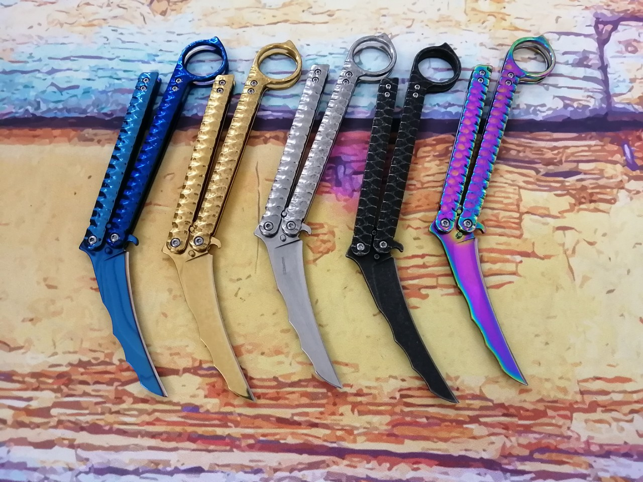 Balisong Karambit 5 Màu Cao Cấp